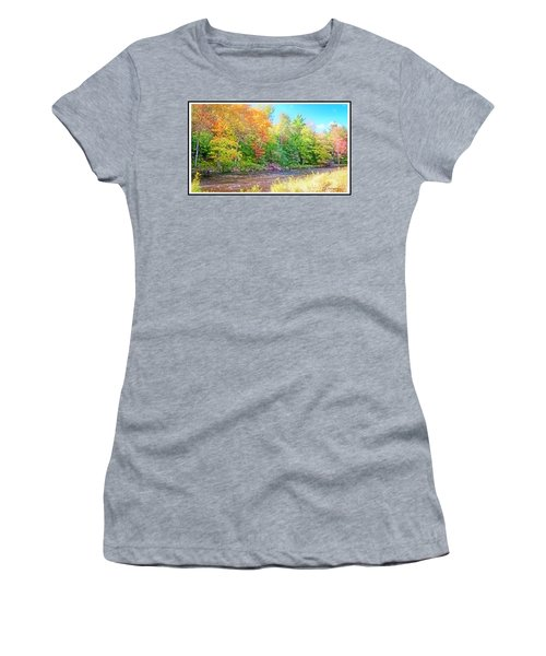 Mountain Stream In Early Autumn Women's T-Shirt