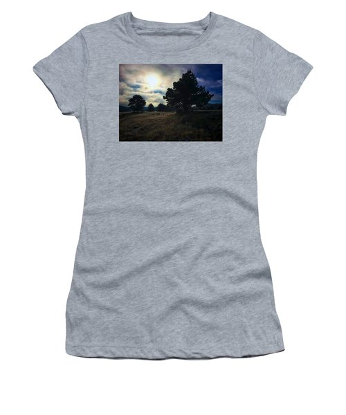 Women's T-Shirt featuring the photograph Murky Atmosphere Elk Meadow by Dan Miller