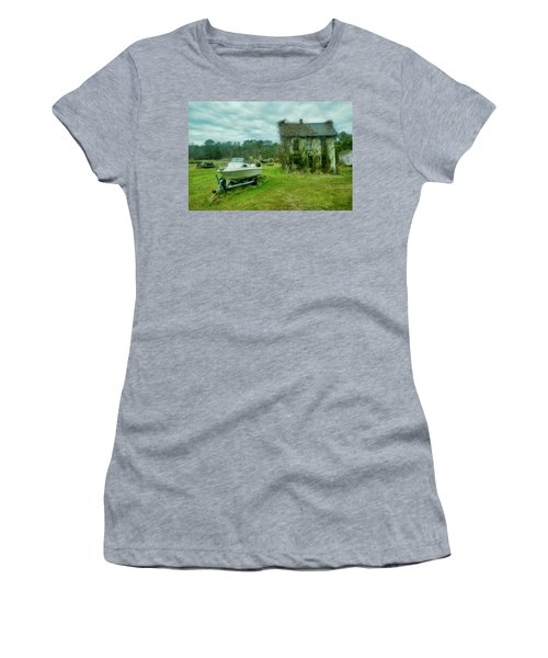 Women's T-Shirt featuring the photograph Auntie's Old House by Joan Reese