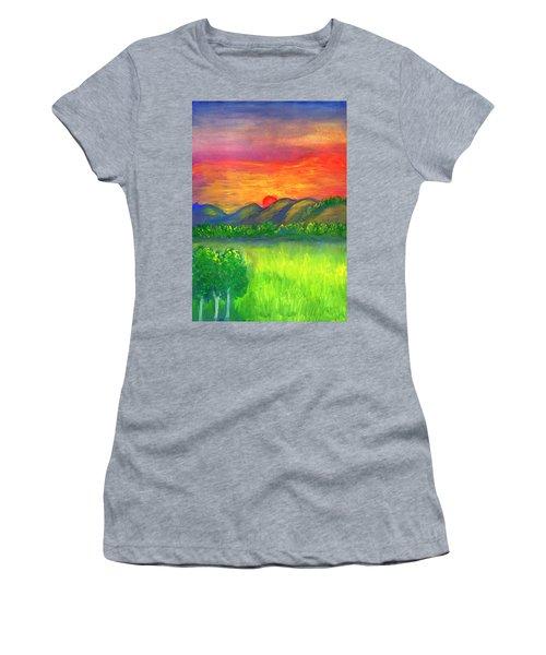Mystical Red Sunset Women's T-Shirt