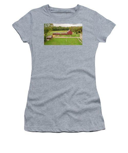 Women's T-Shirt (Athletic Fit) featuring the photograph Nathan Hale Homesead by Michael Hughes