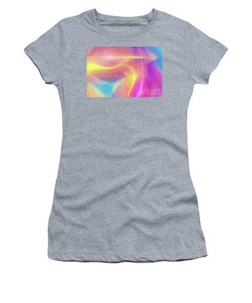 Neon Light  Cosmic Rays Women's T-Shirt