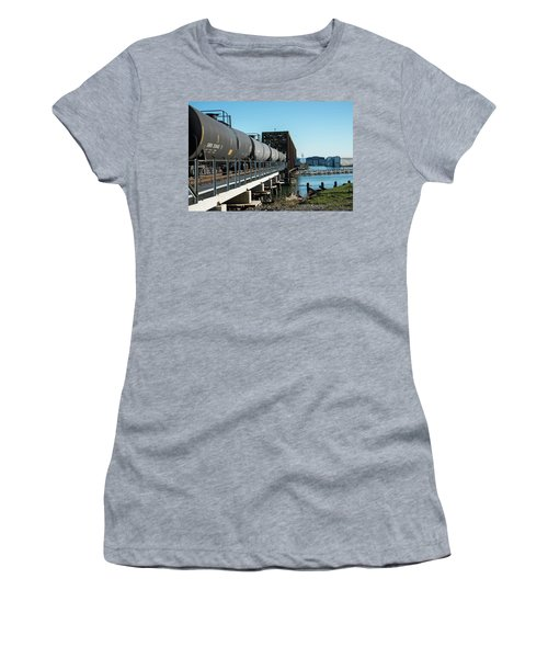 Oil Train Over Swinomish Channel Women's T-Shirt