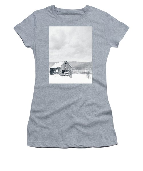 Old Barn Snowstorm Women's T-Shirt