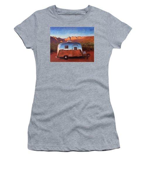 Orange Light On Red Rocks Women's T-Shirt