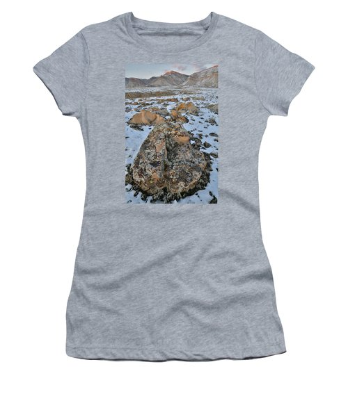 Ornate Boulder Beneath The Book Cliffs Women's T-Shirt