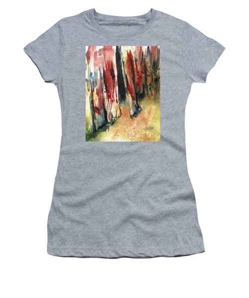 Out Back Behind The Old Red Barn Women's T-Shirt