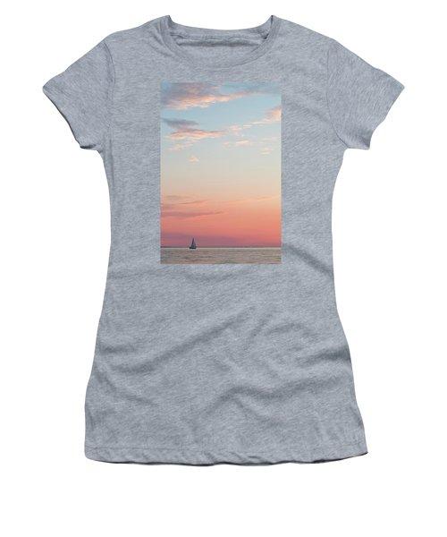 Outer Banks Sailboat Sunset Women's T-Shirt