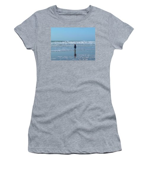 Paddling At Sandymouth Beach North Cornwall Women's T-Shirt