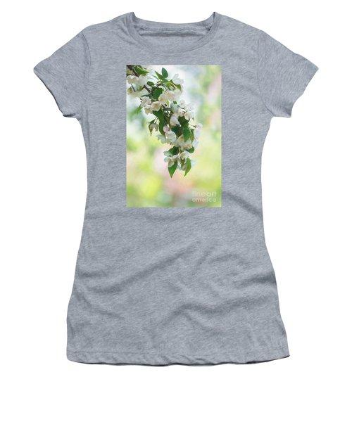 Painted Crabapple Blossom Cascade Women's T-Shirt