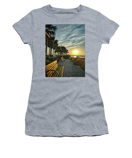 Palm Tree Sunset Women's T-Shirt