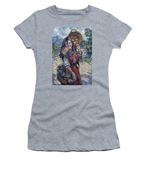 Peasant Girl With Fruit And Flowers Women's T-Shirt