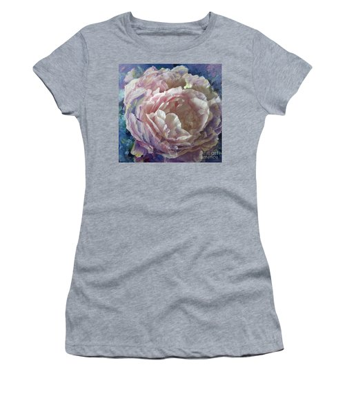 Women's T-Shirt featuring the painting Peony -transparent Petals by Ryn Shell
