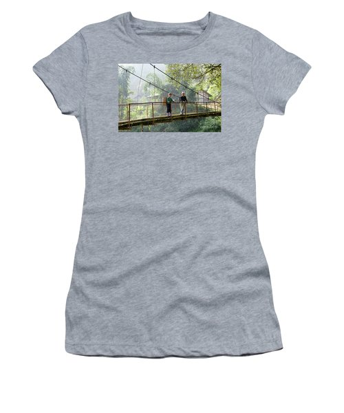 People And Children From Sapa, Mountainous Area Of Northern Vietnam In Their Daily Life. Women's T-Shirt