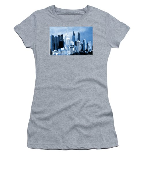 Philadelphia Blue - Watercolor Painting Women's T-Shirt