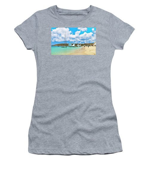 Picture Perfect Day For Sailing In Anguilla Women's T-Shirt