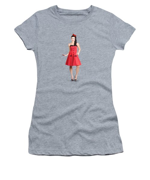 Pin-up Girl In Full Portrait With Beautiful Figure Women's T-Shirt