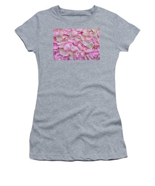 Pink Rose Petals Women's T-Shirt