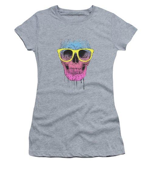 Pop Art Skull With Glasses Women's T-Shirt