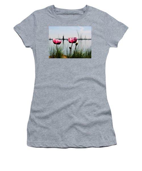 Poppies On Lake Mulwala 2 Women's T-Shirt