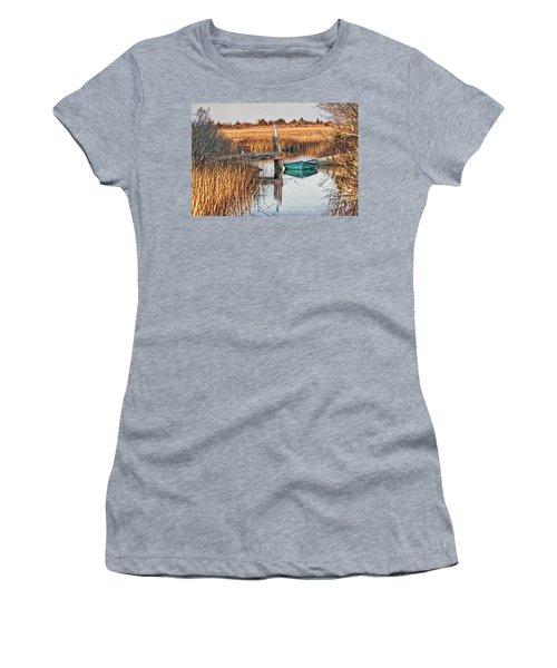 Poquoson Marsh Boat Women's T-Shirt