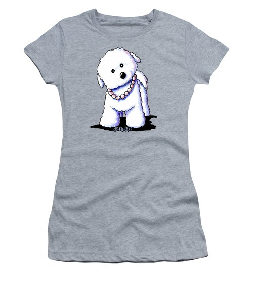 Pretty In Pearls Bichon Frise Women's T-Shirt