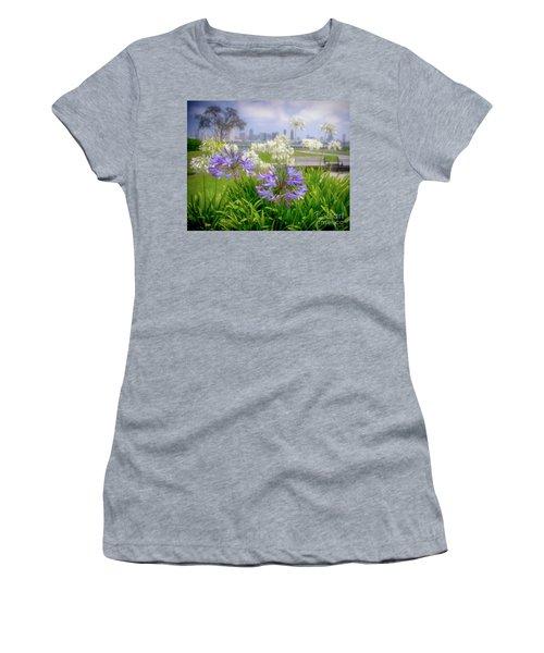 Purple Flowers In San Diego Women's T-Shirt