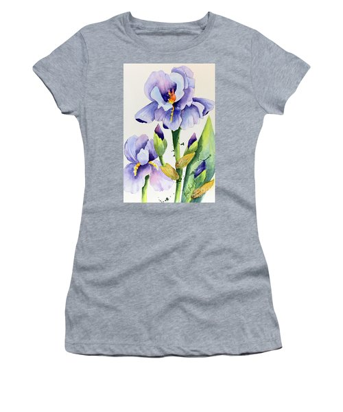 Purple Iris And Buds Women's T-Shirt