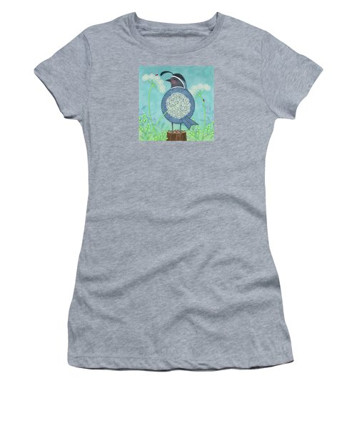 Q Is For Quail And Queen Anne's Lace Women's T-Shirt