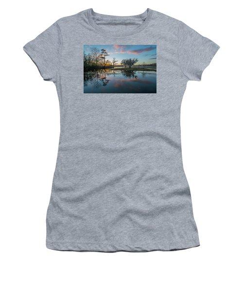 Quiet River Sunset Women's T-Shirt