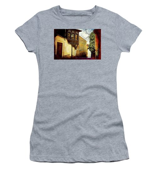 Women's T-Shirt featuring the photograph Quiet Street by Milena Ilieva