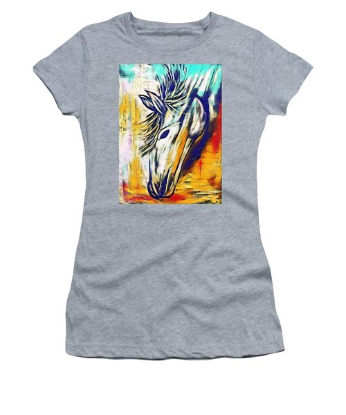 Women's T-Shirt featuring the mixed media Quiet Strength by Jessica Eli