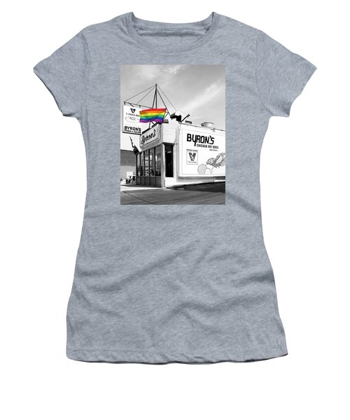 Rainbow Dog Byrons Hot Dogs Women's T-Shirt