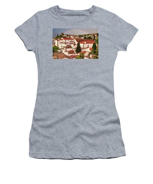 Rainbow Over Castle Women's T-Shirt