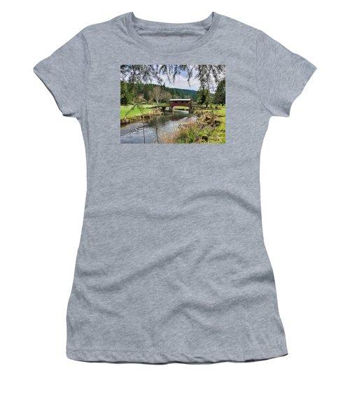 Ranch Hills Covered Bridge Women's T-Shirt