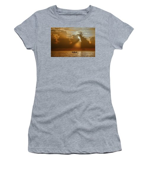 Women's T-Shirt featuring the photograph Rays Light The Way by Tom Claud