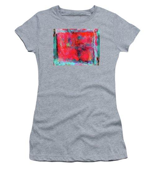 Rectangular Red Women's T-Shirt