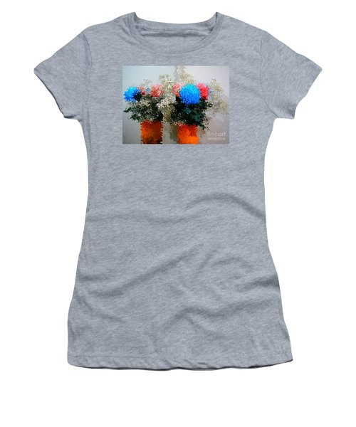 Reflection Of Flowers In The Mirror In Van Gogh Style Women's T-Shirt