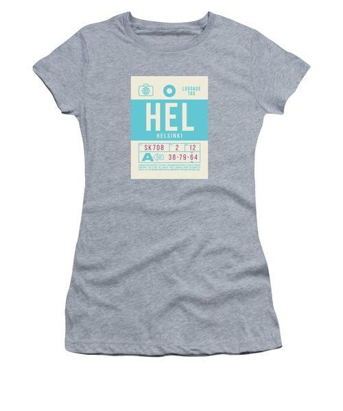Retro Airline Luggage Tag 2.0 - Hel Helsinki Finland Women's T-Shirt