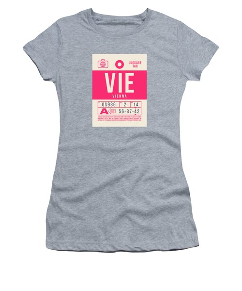 Retro Airline Luggage Tag 2.0 - Vie Vienna International Airport Austria Women's T-Shirt