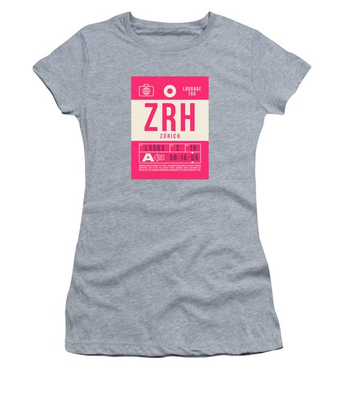 Retro Airline Luggage Tag 2.0 - Zrh Zurich International Airport Switzerland Women's T-Shirt