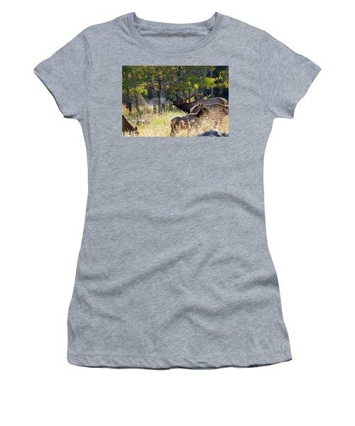 Rocky Mountain Bull Elk Bugeling Women's T-Shirt