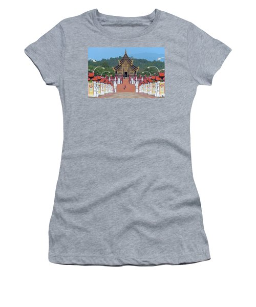 Women's T-Shirt featuring the photograph Royal Park Rajapruek Avenue To The Grand Pavilion Dthcm2584 by Gerry Gantt