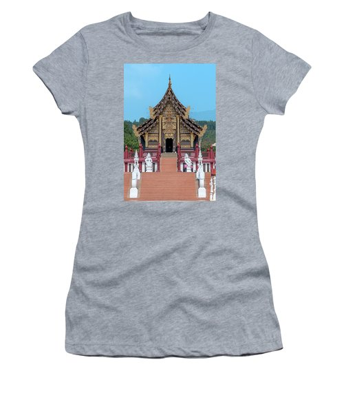 Women's T-Shirt featuring the photograph Royal Park Rajapruek Grand Pavilion Dthcm2585 by Gerry Gantt