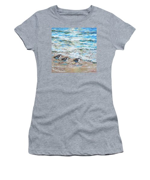 Sanderlings Running Women's T-Shirt (Athletic Fit)