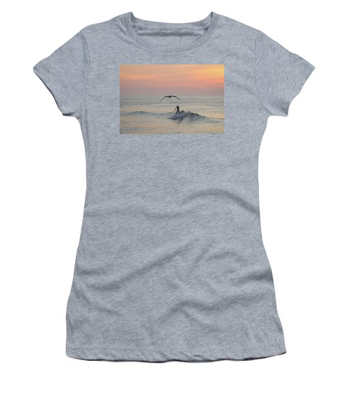 Seagull And A Surfer Women's T-Shirt