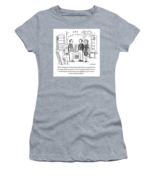 Search For A Long Dining Table Women's T-Shirt