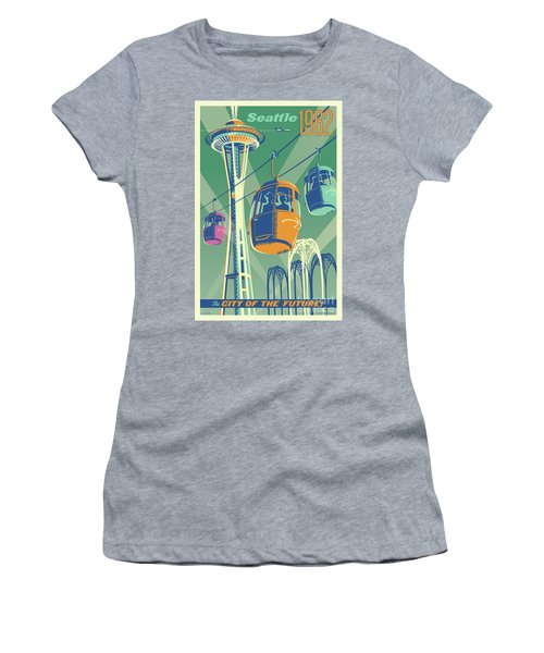 Seattle Poster- Space Needle Vintage Style Women's T-Shirt