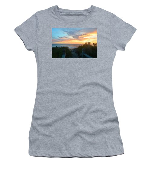 Women's T-Shirt featuring the photograph September 28, 2018 Sunrise Nh  by Barbara Ann Bell
