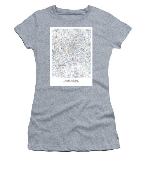 Shanghai Map Women's T-Shirt